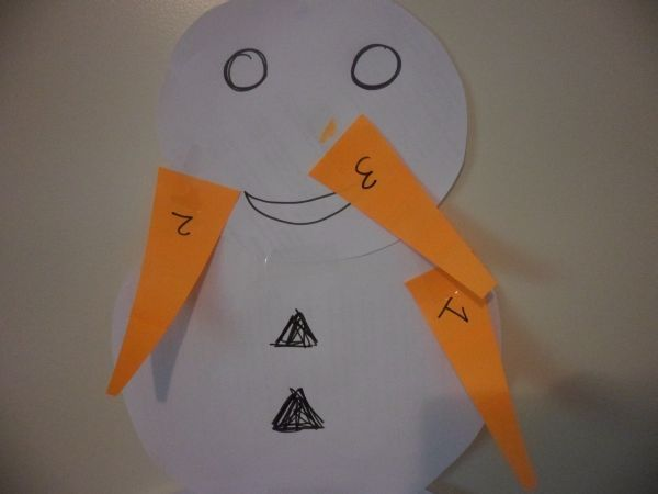 Pin the Nose on the Snowman