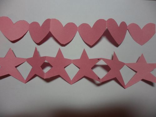 Paper Chain People, Heart and Star