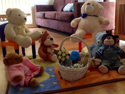 Bears, picnic, teddy bears, play, food, toys, pretending, teddy