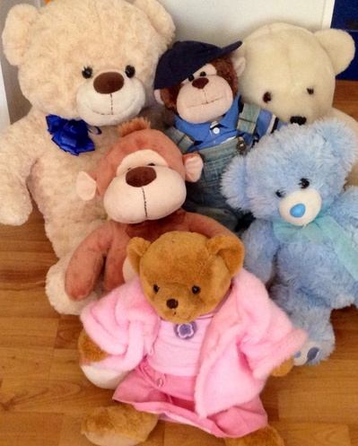 Bears, teddy bears, soft toys, toys, together, group, join, picnic, invited
