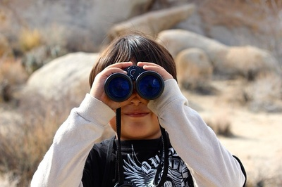 Boy, child, kid, binoculars, looking, sight, finding, searching, focus